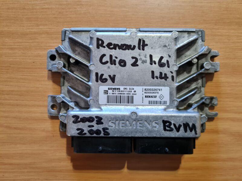 Renault Clio II 1.6i 16V 2003 to 2005 Siemens ECU part#8200326741
