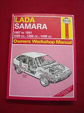 HAYNES LADA SAMARA  1987 - 1991 1099CC, 1288CC, 1499CC MANUAL