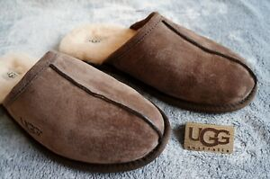 47a80f9e77f Details about UGG SCUFF SUEDE SLIPPERS , Mens US 14, Color: EXPRESSO, 5776