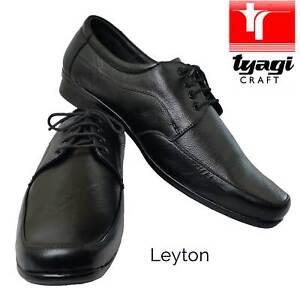 f889d807780 NEW Teenage Boy Men Shoes Black Leather Smart All Size Uniform ...