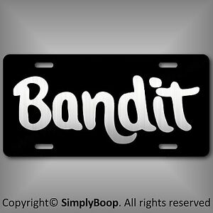 Smokey-amp-The-Bandit-Reproduction-Aluminum-License-Plate-Tag-Brushed-Aluminum