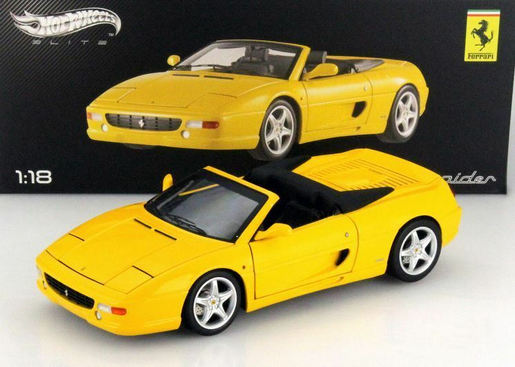 Ferrari 355 f355 spider gelbe skala 1,18 hotwheels elite new in box