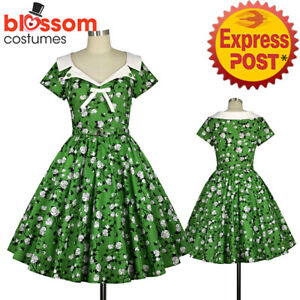 Dresses Girls' Clothing (2-16 Years) Green Floral Dress With White Ribbon