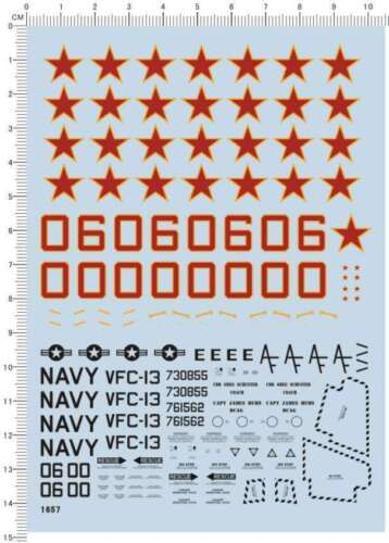 Super Detail Up USN F-5 Tiger VFC-13 Taxis NAS Fallon Fighter Model Kit Decal