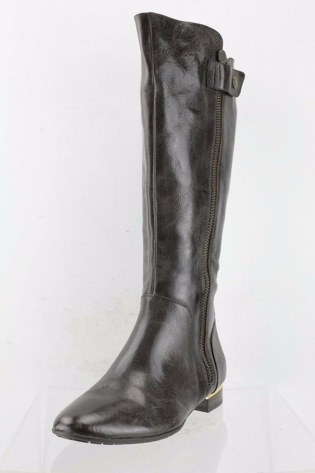 Isola Aali Dark Brown Leather Knee High Boots Women's Shoes Size 9.5 M NEW