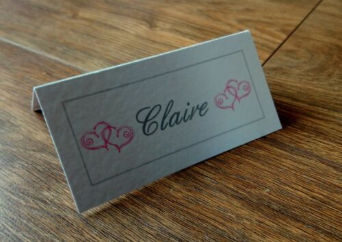 **Personalised Place//Name Cards** 22 colours available