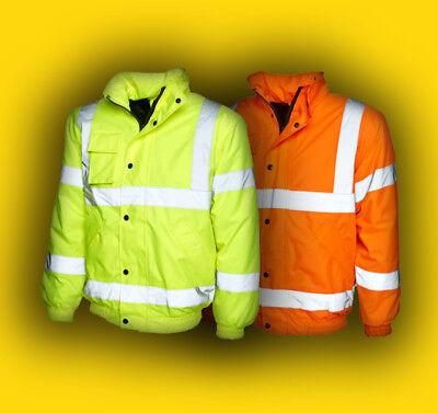Objective Pilotenjacke gr. S-4xl Warnschutzjacke Warnjacke Gelb/orange Arbeitsjacke