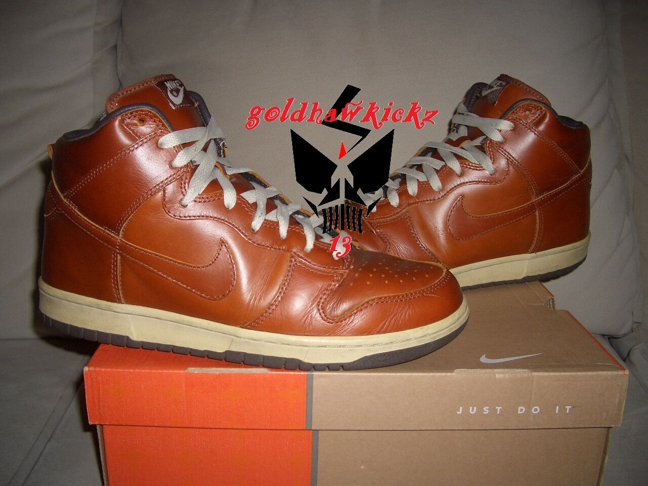 2003 Nike Dunk High Premium Curry brown Leather 305808-771 nikelab ginger