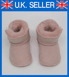 Baby Toddler Boys Girls Sheepskin Slippers Boots Lia Couture Pink