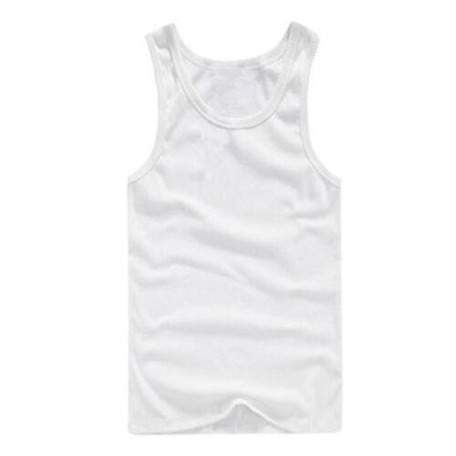 Men Tank Vest Top Undershirt Sleeveless Gym Fitness Summer Quick Dry Solid Shirt