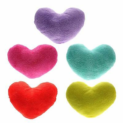 Colors Soft Love Heart Shape Fluffy Throw Pillows Cushions Block Gifts for Lover