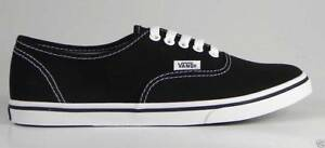 Vans-Women-Authentic-Black-White-Low-Pro-Shoes-Canvas-Fashion-Sneakers-Flat