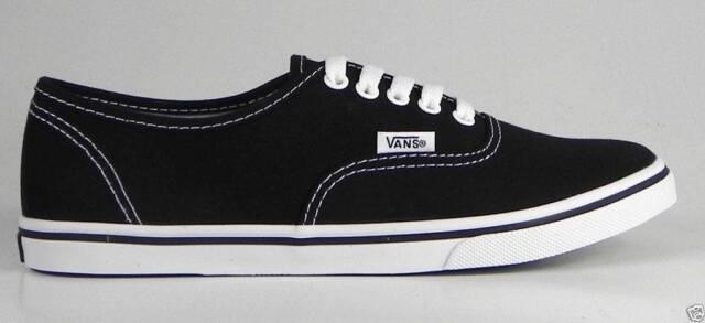 Vans Men Authentic Black White Low Pro