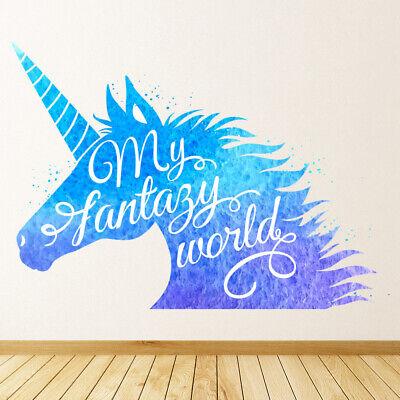 Follow Your Dreams Unicorn Quote Wall Sticker WS-44661