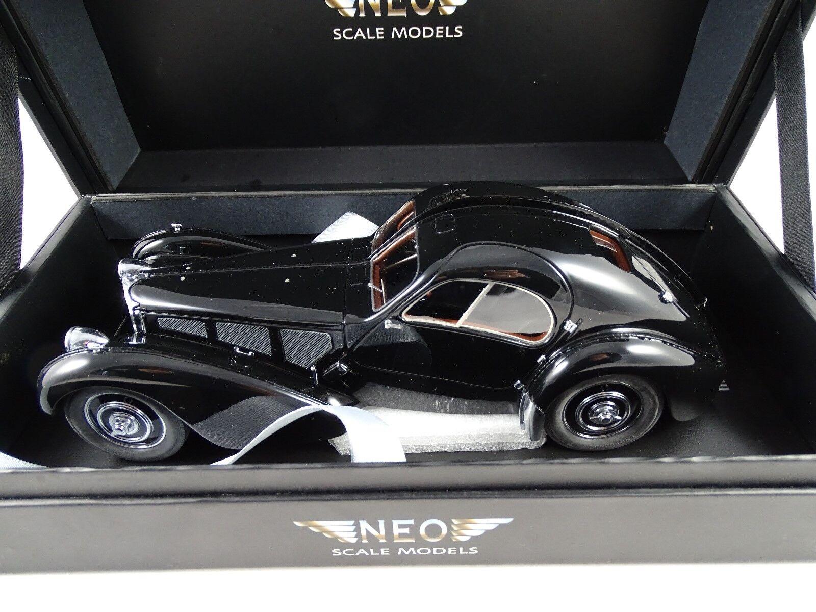 1 18 Neo Bugatti T57Sc Atlantic nero - Rarity