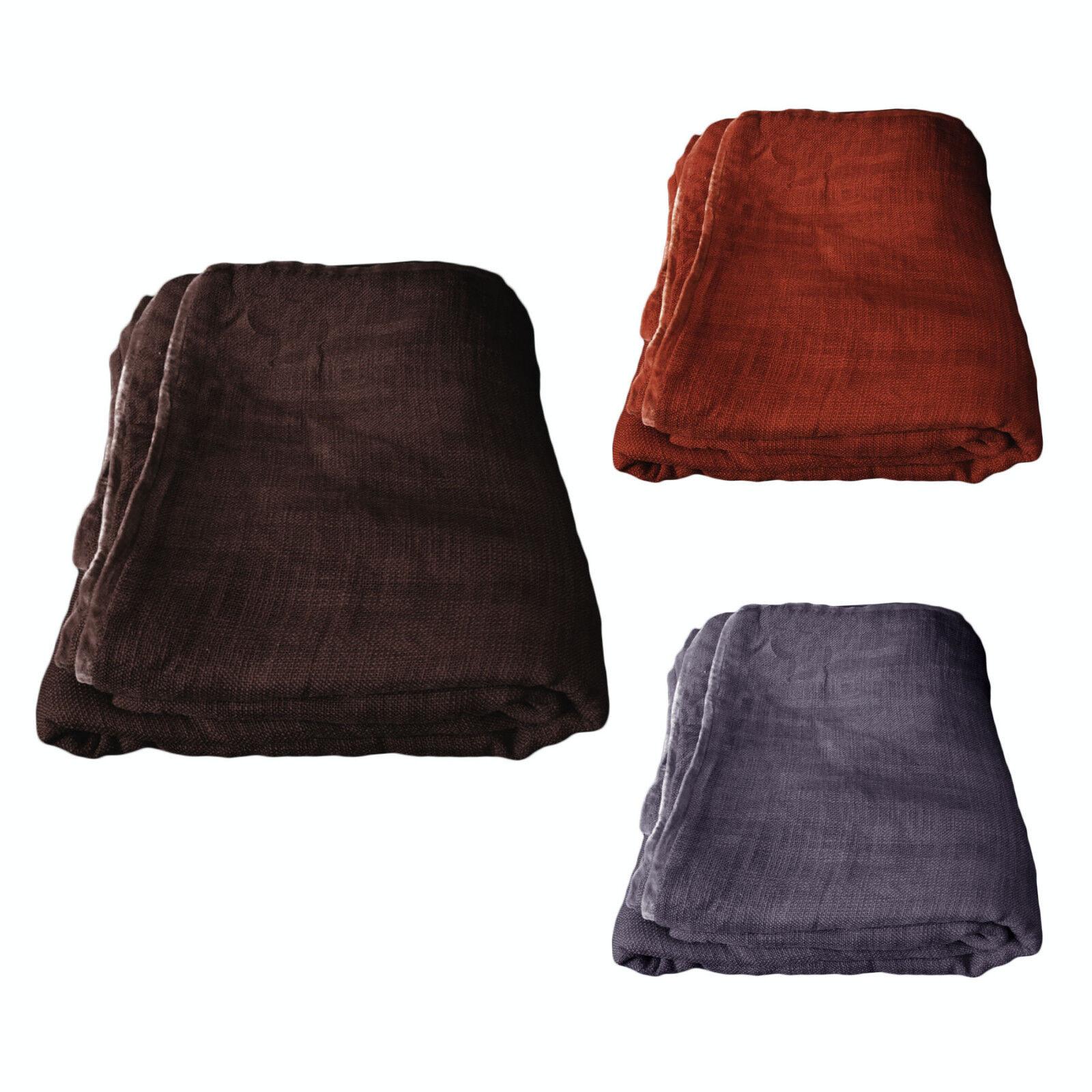 3 color Choice - Rowan 100% Cotton Blanket - SINGLE QUEEN