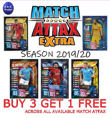 Match Attax Extra 19//20 Tarjetas de Papel de Aluminio 100 Club Edición Limitada-MULTI COMPRA DESCUENTO