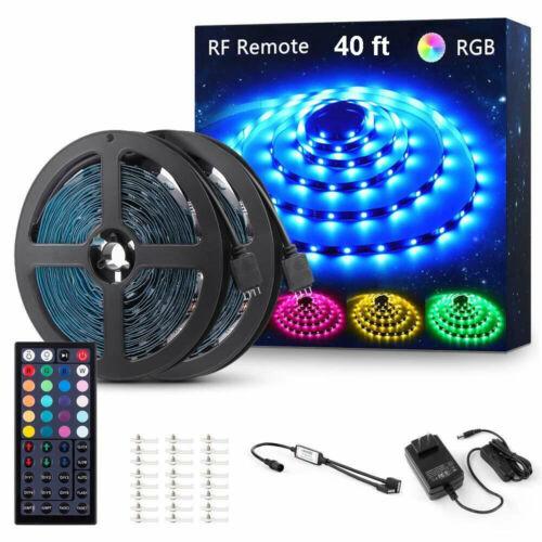 20//40ft RGB LED Strip Lights 44 Key RF Remote Control Color Changing 5050SMD Kit