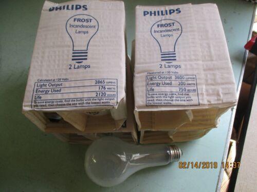 LOT OF 8 PHILIPS 13999-7 200W 130V A19 Medium Incandescent Bulb STANDARD BASE