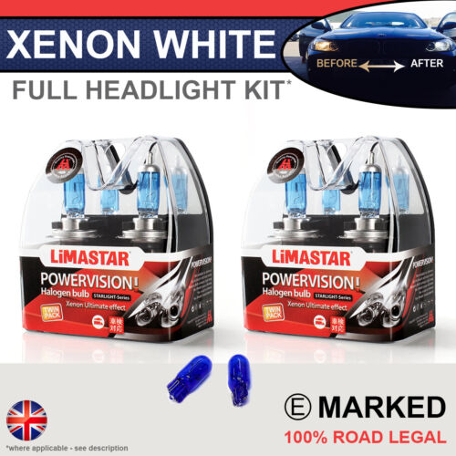 Scirocco 08-on Xenon White Upgrade Kit Headlight Dipped High Side Bulbs 6000k