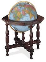 Replogle Globes Illuminated Statesman Globe Blue Ocean 20-Inch Diameter Home Furnishings on Sale