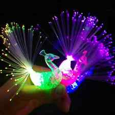 1Pc Party Bar Supplies Child Toys Night Discolor Peacock Finger Light Electronic