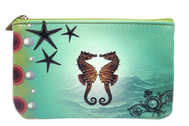 Lavishy Ocean Dream Mystic Ocean Creature Small Flat Pouch