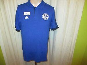 FC-Schalke-04-Original-Adidas-Freizeit-Herren-Polo-Hemd-2014-15-Gr-M