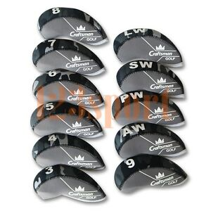 USA-11pcs-Camo-Golf-3-Lw-Iron-Wedge-Headcovers-Covers-Set-for-Taylormade-M2-SLDR