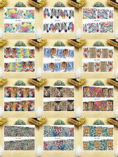 12 Sheets Nail Art Water Transfer Decal Stickers Leopard YB1069-1080