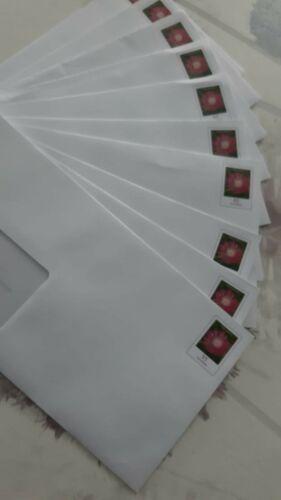 Briefumschläge frankiert 0.95 Euro Briefmarken mit Sichtfenster  NEU 10 Stk