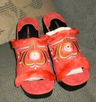 Chinese Laundry'adobe Red Slip On Clogs' Size 6 1/2 New
