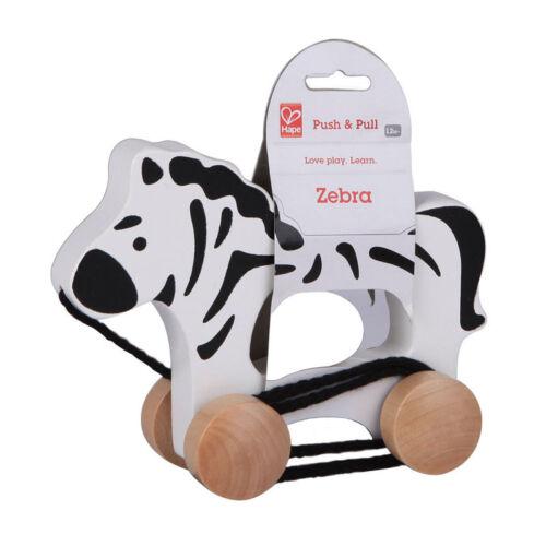 "Hape E0909 Nachziehtier /""Zebra/"" Rolltier Schiebetier Holz NEU #"