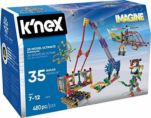 KNEX Imagine 35 Model Building Set for Ages 7, Construction Education Toy, 480