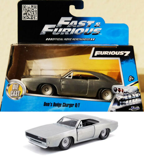 1968 Dodge Charger R//T Bare Metal Fast /& Furious dom RT 1:32 jada Toys 97350