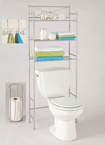 Image Is Loading Bathroom Storage Organizer Set 3 Piece Rack Over
