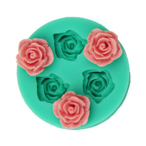 Mini-Rose-Flower-Silicone-Mold-Making-for-Super-Sculpey-Polymer-Clay-DIY