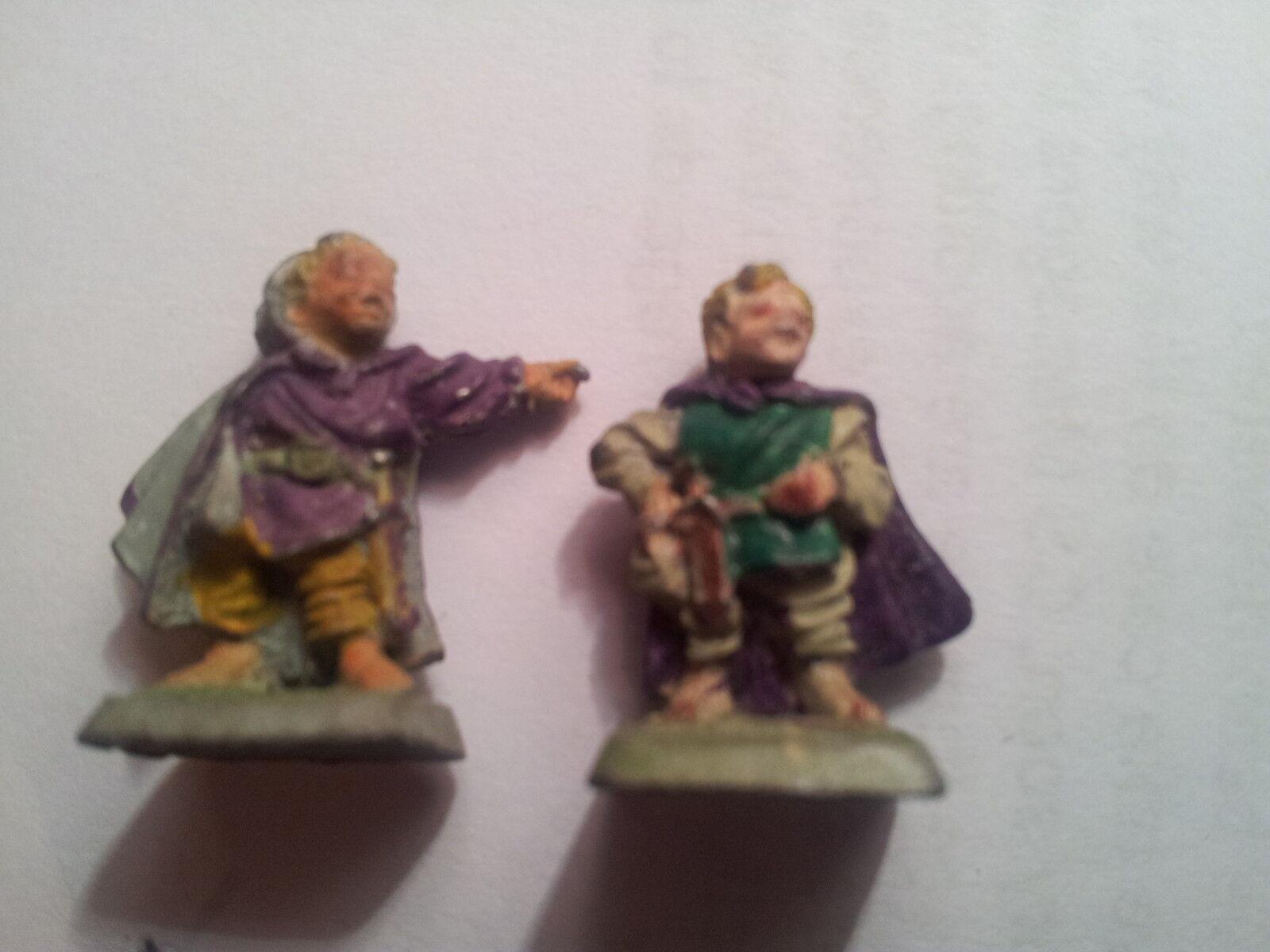 MITHRIL Miniatures M129 Merry e Pipino 1989 fuori catalogo GLI HOBBIT