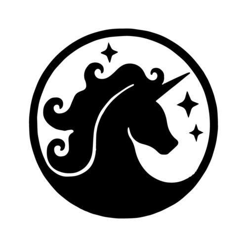 "5/"" UNICORN SPARKLE Vinyl Decal Sticker Car Window Laptop Horse Mythical Pretty"