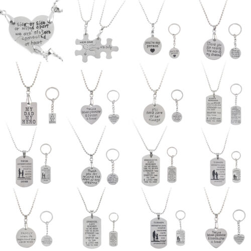 Family Love Fashion Charm Pendant Necklace Heart Pet Paw Jewelry Mom Daughter