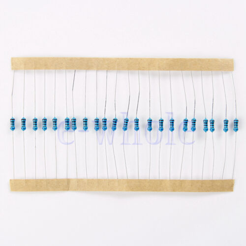 400Pcs 20Werte 1//4W Carbon Film Resistor Resistance Assortment Kit Set 5/% GE