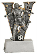"6"" V Series Resin Soccer Female Trophy  JDSV811"
