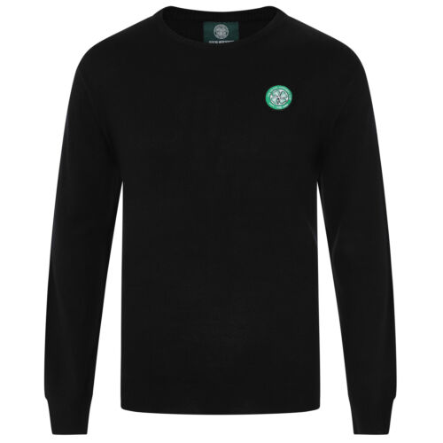 Celtic FC Official Football Gift Mens Crest Knitted V-Neck Jumper
