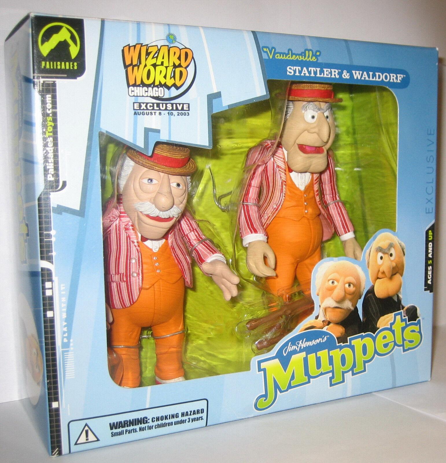 The Muppet Show Vaudeville Statler & Waldorf Palisades Figure Wizard World MISB