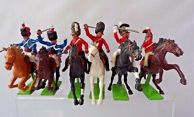Britains Deetail Napoleonic British Cavalry Set Of Six Plastic Soldiers 1.32   eBay