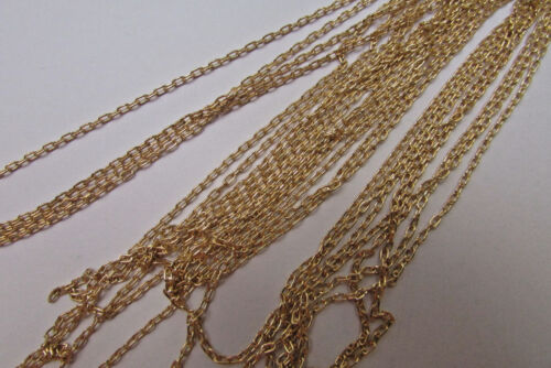 Gold Oval Fine Cable Chain Goldfilled Bulk Necklace for Jewelry Making 2mm x 1mm