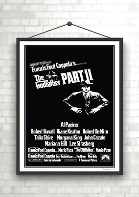 The Godfather Part II Vintage Classic Movie Poster Art Print A0 A1 A2 A3 A4 Maxi