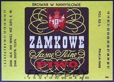 Poland Brewery Namysłów Zamkowe Beer Label Bieretikett Etiqueta Cerveza na42.1