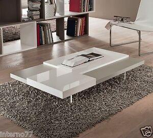 Tavolino Basso Design.Dettagli Su Tavolino Mod Erica Tavolo Basso Design Da Soggiorno Dim 120x70xh 20 La Primavera