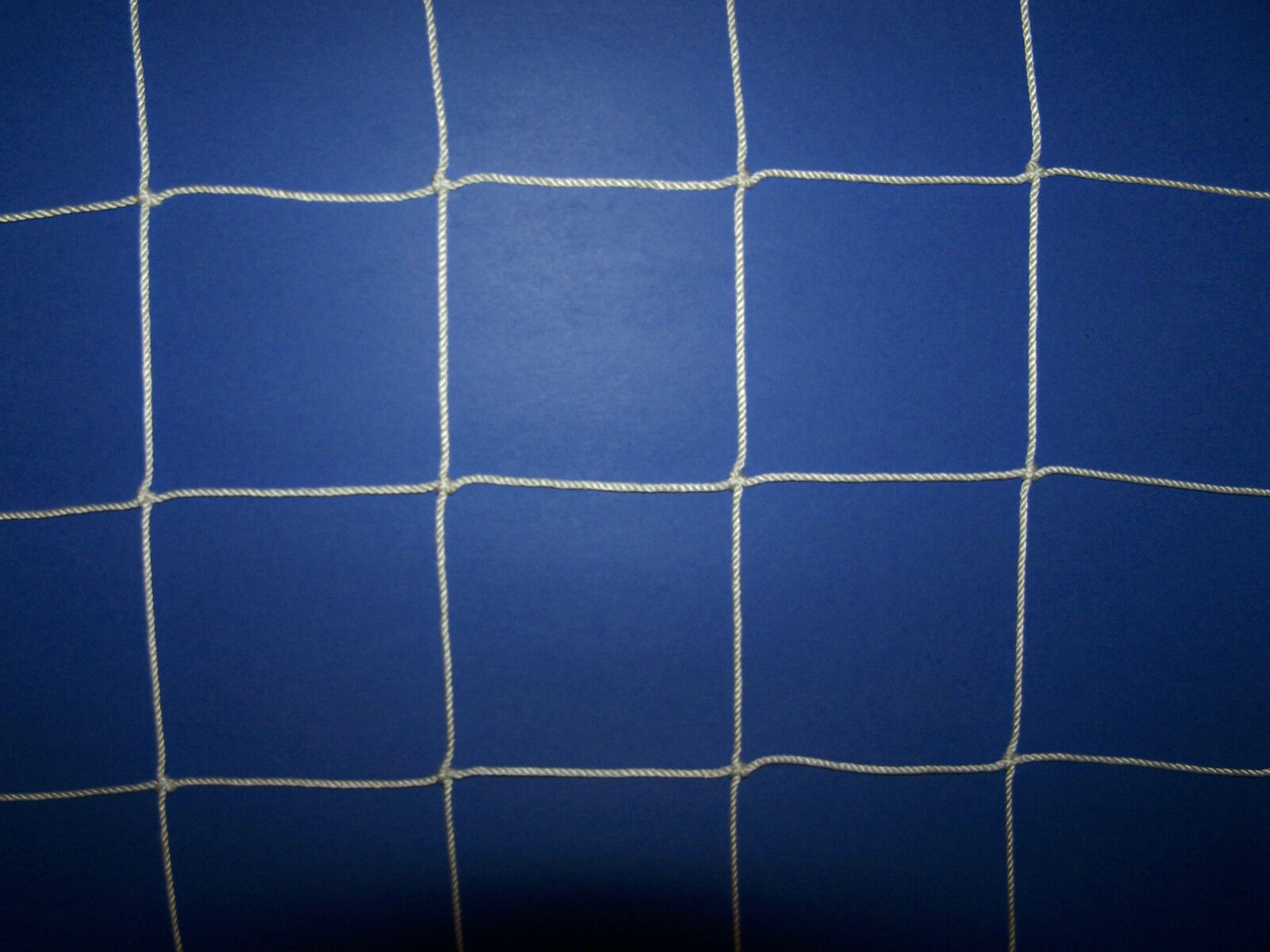 12' x 8' WHITE SQUARE MESH SOCCER IMPACT NET  4   VOLLEYBALL NETTING